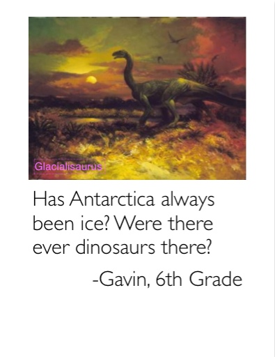 Were there ever dinosaurs there?